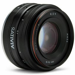 50mm f/2.0 Lens for Sony E-Mount Mirrorless A6500 A6400 A630
