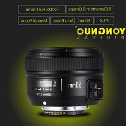 YONGNUO 50mm F1.8 Standard AF Auto Manual Focus Lens FX DX f