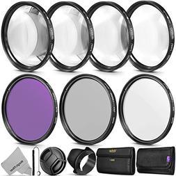 52MM Vivitar Professional UV CPL FLD Lens Filter and Close-U