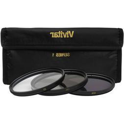Vivitar 58mm 3-Piece UV/CPL/ND8 Filter Kit for Digital SLR C