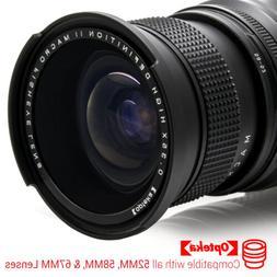 Opteka 0.35x Super Wide Angle Panoramic Macro Fisheye Lens F