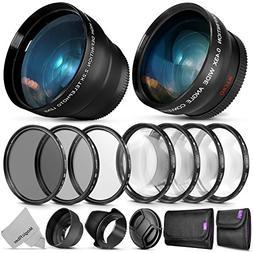 52mm Starter Accessory Kit for Nikon DSLR Bundle with Vivita