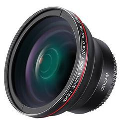 Neewer 55MM 0.43x HD Wide Angle Lens  for Nikon D3400 D5600