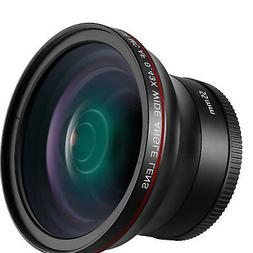 Neewer 55mm 0.43x HD Wide Angle Lens with Macro Portion for