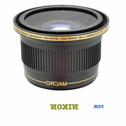55MM X38 FISHEYE WIDE ANGLE LENS+ MACRO For NIKON D3400 WITH