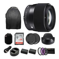 Sigma 56mm f/1.4 DC DN Contemporary Lens for Sony E-Mount Ca