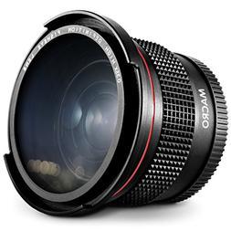 58MM 0.35x Altura Photo HD Fisheye Wide Angle Lens  for Cano