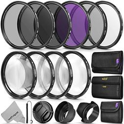 58MM Complete Lens Filter Accessory Kit  for Canon EOS Rebel