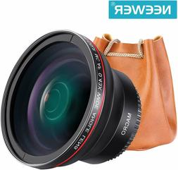 NEEWER 58MM 0.43X HD Wide Angle Lens Macro Close-Up Canon EO
