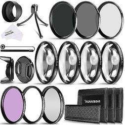 Neewer 58mm Camera Lens Filter Kit UV CPL FLD ND2 ND4 ND8 f