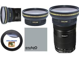58MM HD3 16k WIDE ANGLE LENS + MACRO LENS FOR Canon EF-S 55-