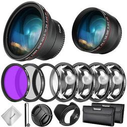Neewer 58mm Lens & Filter Accessory Kit for Canon Rebel EF-S