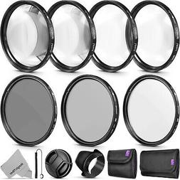 58mm Altura Photo Professional UV CPL ND4 Lens Filter and Cl