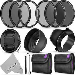 58MM Altura Photo UV CPL ND4 Filter Kit, ND Filter Set & Len