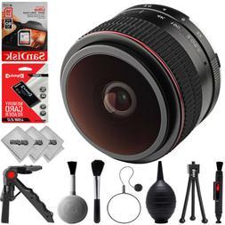 Opteka 6.5mm f/2 HD MF Fisheye Lens for Canon EOS-M Mount M5
