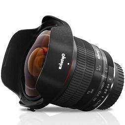 Opteka 6.5mm f/3 Wide Angle Fisheye Lens for Nikon F DX FX M