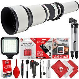 Opteka 650-1300mm f/8 Tele Zoom Lens for Canon Digital SLR C