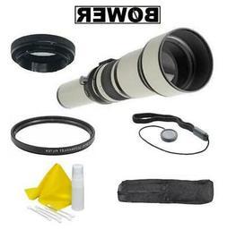 Bower 650-1300mm Super Range Telephoto Zoom Lens For Nikon D