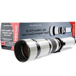 Opteka 650-1300mm Telephoto Lens for Sony FE SEL NEX E Mount