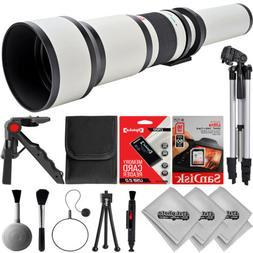 Opteka 650-1300mm W f/8 Tele Zoom Lens for Canon Digital SLR