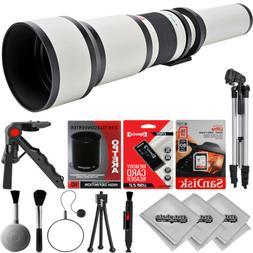 Opteka 650-2600mm Super Zoom Lens for Canon 60D 70D T7i T6i