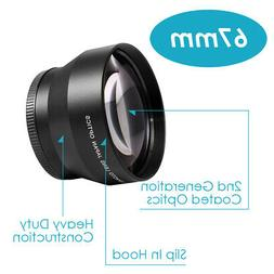Neewer 67mm 2.2x Magnification Telephoto Lens Pro HD for Can