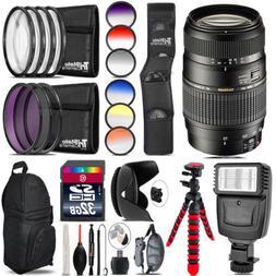 Tamron 70-300mm Lens for Nikon + Flash + Color Filter Set -