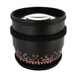 Rokinon 85mm t/1.5 Aspherical Cine Lens for Canon #CV85M-C