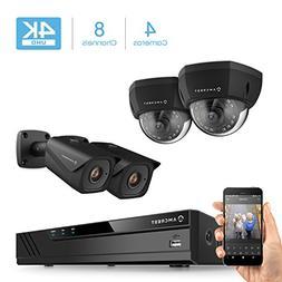 Amcrest 4K 8CH Security Camera System w/H.265 4K  NVR,  x 4K