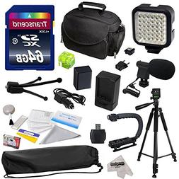 Advanced Accessory Kit for Canon PowerShot G1X G16 G15 SX50H