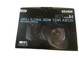 Bower SLY1428S Ultra Wide-Angle 14mm f/2.8 Fisheye Lens for
