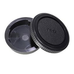 CamDesign Rear Lens Cap and Body Cap Set for Olympus OM Syst
