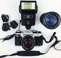 Canon AE-1 Program 35mm Manual Focus Film Camera - Lens - Fl