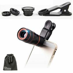 EEEKit for Phone, 8X Zoom Telephoto Lens+Marco Lens+Wide Ang