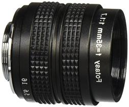 Fotasy M3517 35MM F1.7 TV Movie Fixed Lens and Lens Adapter