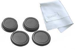 Fotasy RBC2 2x Rear Lens Cover and Camera Body Cap Set, Clea