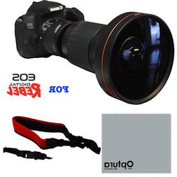 HD 240° WIDE ANGLE FISHEYE LENS FOR CANON EOS REBEL SL1 130