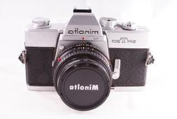 Minolta SRT 201 SLR 35mm Camera w/ Minolta MD Rokkor-x 45mm