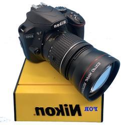 SPORT ACTION 2X TELE ZOOM LENS FOR Nikon D3200 D3000 D5300 D