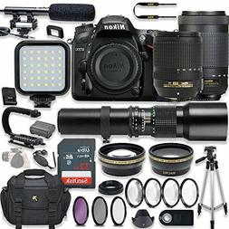 Nikon D7200 24.2 MP DSLR Camera Video Kit with  Lenses and A