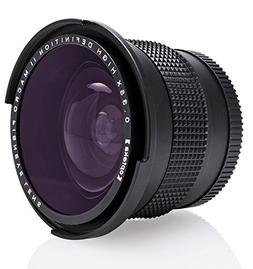 Opteka .35x HD Super Wide Angle Panoramic Macro Fisheye Lens