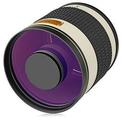 Opteka 500mm f/6.3  Telephoto Mirror Lens for Sony a9, a7R,