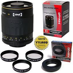 Opteka 500mm f/8 High Definition Telephoto Mirror Lens for N