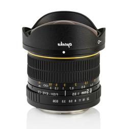 Opteka 6.5mm f/3.5 Fisheye Lens for Nikon D7500, D7200, D710