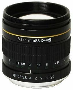 Opteka 85mm f/1.8 Aspherical Telephoto Portrait Lens for Nik