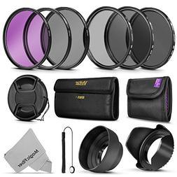 Professional 52MM Vivitar UV CPL FLD Lens Filters Kit and Al