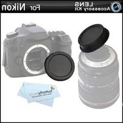 Rear Lens Cap and Camera Body Cover Cap for NIKON DSLR Camer