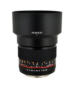 Rokinon 85MAF-N 85mm F1.4 Aspherical Lens for Nikon with Aut