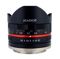 Rokinon 8mm F2.8 UMC Fisheye II  Lens for Fuji X Mount Digit