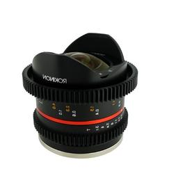 Rokinon 8mm T3.1 UMC Cine Fisheye II Lens for Fuji X Mount D